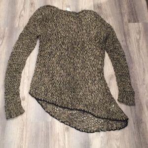 HELMUT LANG asymmetrical crochet sweater top